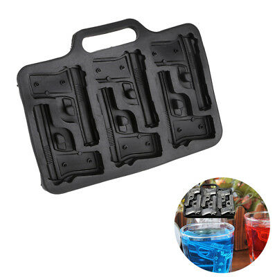 Silicone Ice Cube Mold Pistol Gun/AK47 Bullet /Grenade Shape Ice Cube Maker Tray