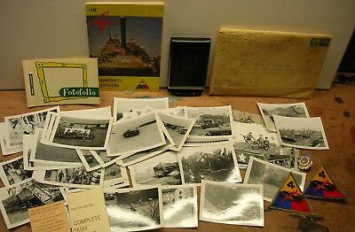 4th Armored Division Photo / Booklet / Insignia Grouping