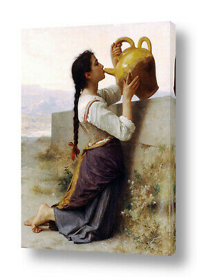 Thirst by William Bouguereau | Ready to hang canvas | Wall art oil painting HD