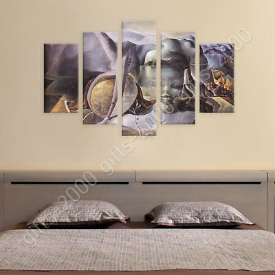 The Endless Enigma by Salvador Dali   Ready to hang canvas   5 Panels Wall art
