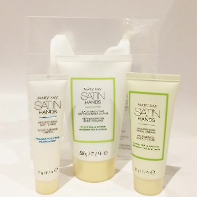 Mary Kay Satin Hands Set White Tea & Citrus Handcreme Hand Cream