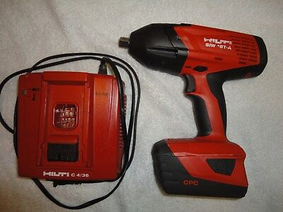 """Hilti SIW 18T-A  1/2"""" Drive Cordless Impact Wrench w / Battery Charger"""
