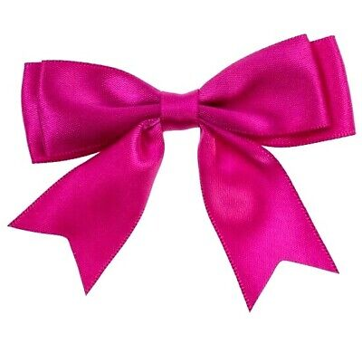 Pack of 5 Hot Pink Cerise Large 8.5cm 25mm Satin Ribbon Ready Made Double Bows