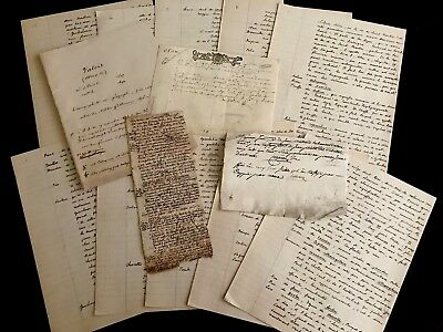 1600-1900 Collection of Old Historical Manuscripts (vellum and paper)