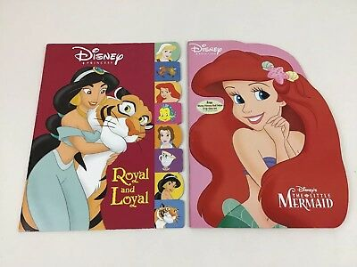 Disney Princess Golden 2004 Coloring & Activity Book Lot Little Mermaid & Royal