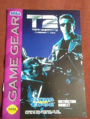 Terminator T2 Sega Game Gear instruction manual only
