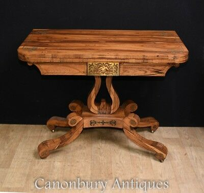 Antique Rosewood Regency Card Games Table Circa 1810
