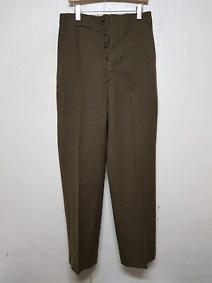 RARE 1940'S Vintage US Army Wool Field Pants Trousers Military Clothes Uniform