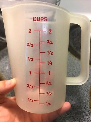 Vintage Tupperware Cup 2 Cups