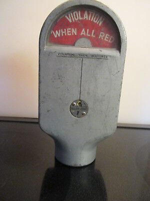 WORKS! Antique Marked Time M.H.Rhodes Parking Meter 1 Cent 2 Cent 3 Cent 4 Cent