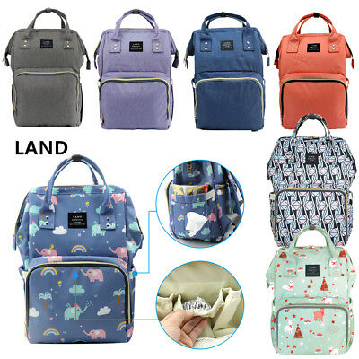 LAND Mommy Baby Diaper Bag Backpack Baby Nappy Tote 2018 Type Bag