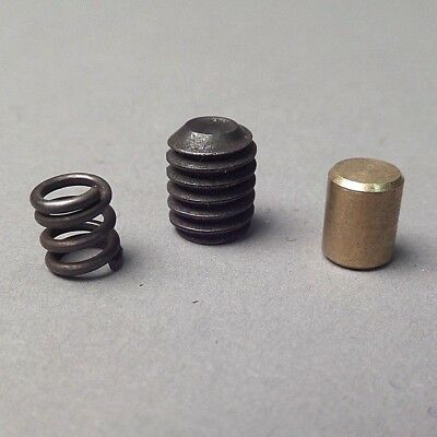 "1/4"" Brass Plug, Cross Feed Spring & Set Screw for AMMCO Brake Lathes 9836, 2064"
