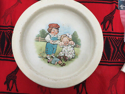 Vintage Buffalo Pottery Childs Dish From ~1915