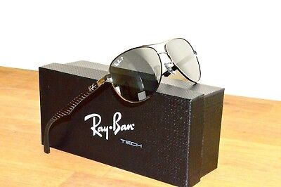 5e758dc1709ba1 Ray-Ban TECH RB 8313 004 K6 Gunmetal   Mirrored Silver Polarized 58mm  Sunglasses
