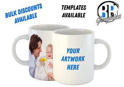 Personalised Mug - Any Text - Design - Photo - Gift - Promotional - Corporate