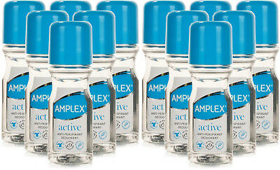 12 x Amplex Active Anti-Perspirant Deodorant Roll On 50ml