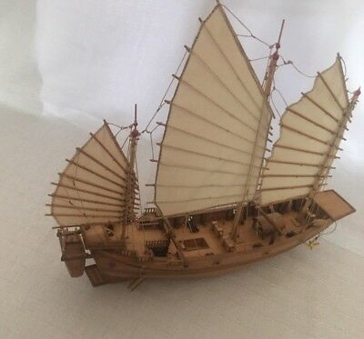 Tall Wooden Model Ship: Handmade Chinese Pirate Ship, Museum Quality