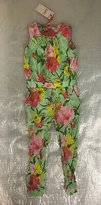 "Bnwt Girl's "" Ted Baker "" Multi-Coloured Floral Jumpsuit - 5 / 6 Years !"