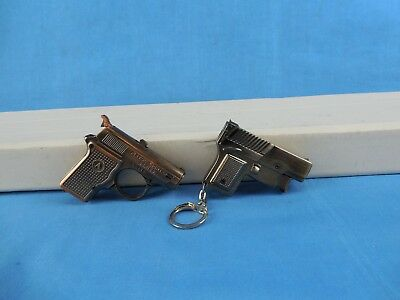 2 Small Pistol Lighters - There Is Spark , But Not Fueled And Tested