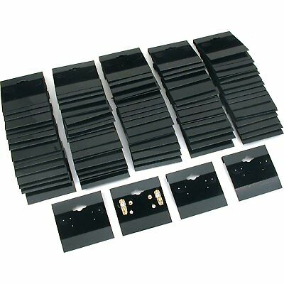 200pk Black Earring Display Hang Flocked Cards 2 X 2 Inch Jewelry Hanging Card