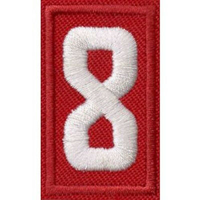Boy Scout of America BSA Cub Scout unit numeral emblem 8 - red, new