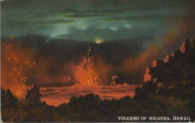 Old Postcard - Volcano off Kilauea Hawaii