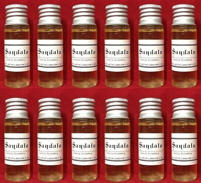 WHOLESALE X 12 ☆ MADERA DE SANDALO ☆ ESENCIA 15ml • Sandalwood Wood Essence ☆
