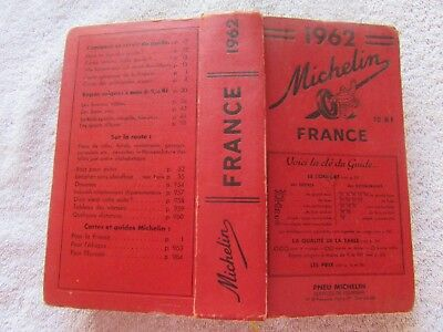 Ancien guide rouge MICHELIN 1962