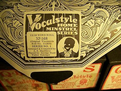 5-QRS Vocalstyle HOME MINSTREL SERIES XP- Player Piano Rolls  Rare Find