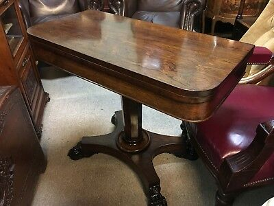19th Century Rosewood Card Table . Delivery Available