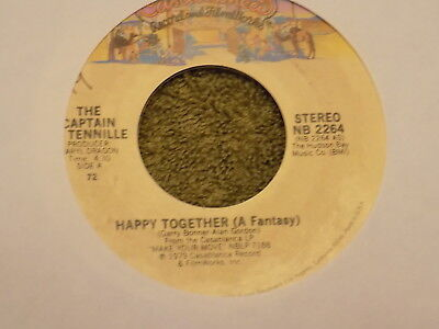 "THE CAPTAIN & TENNILLE Happy Together / Baby You Still Got It 7"" 45"