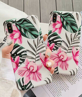Retro Green Plant Soft Slicone Phone Case For iPhone XS MAX XR X 8 7 6s 6 Plus