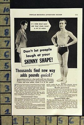 1934 Ironized Yeast Weight Gain Diet Fad Medical Cure Health Vintage Ad  Zd82