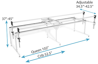 Grace Q-Zone Queen Quilting Frame w/Carriage and bungee clamps