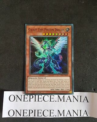 Yu-Gi-Oh! LED3-EN039 Galaxy-Eyes Photon Dragon Super Rare 1st (LED3-FR039)