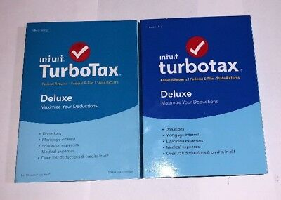 2015 & 2016 TURBOTAX DELUXE Plus STATE CDs TURBO TAX brand new, sealed