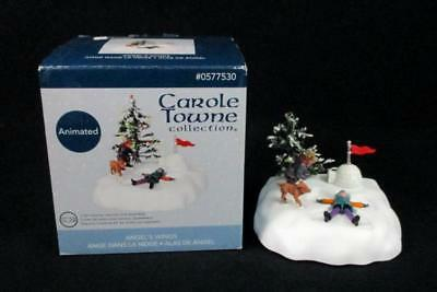 rare carole towne making snow angels animated lighted new angels wings - Lowes Christmas Village