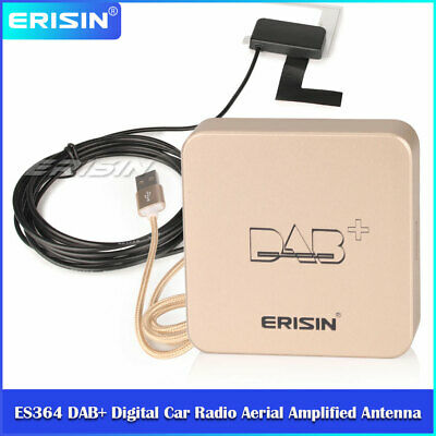 DAB+ Digital Radio Aerial Amplified Antenna for Android 6.0/7.1/8.0 Stereos