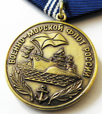 """Russian Navy Medal """"Motherland, Courage, Honor, Glory"""" Original + Doc"""