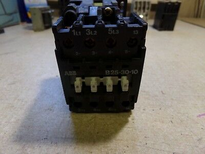 TESTED ABB B25-30-10 Contactor 110//120V with CA7-10-01 Contact Block