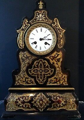 Rare shape 19th C, S. Marti et cie. Boule Mantel clock, full working.