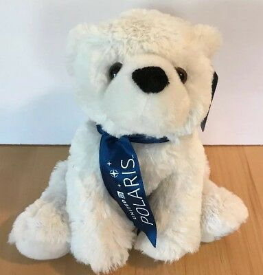 """United Airlines Polaris Bear White Plush 8"""" Toy First To Fly Stuffed Animal NWT"""