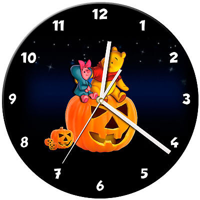 Halloween Glass Wall Clock Learn Gift Bedroom Gaming Kids - 14