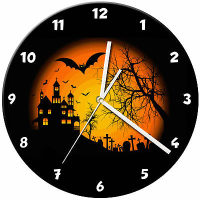 Halloween Glass Wall Clock Learn Gift Bedroom Gaming Kids - 10