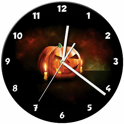 Halloween Glass Wall Clock Learn Gift Bedroom Gaming Kids - 04