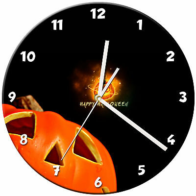 Halloween Glass Wall Clock Learn Gift Bedroom Gaming Kids - 05