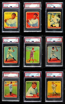 1933 Goudey Baseball Almost Complete Set GD+