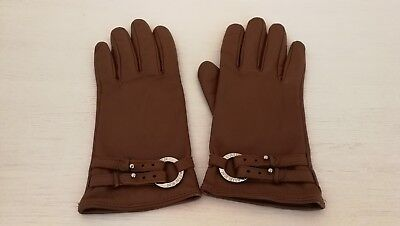 Ralph Lauren women's genuine leather tan brown pair of gloves Size M