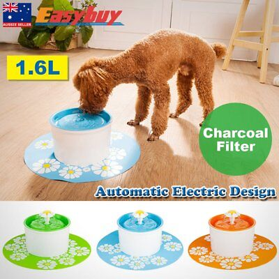 Automatic Electric 1.6 L Pet Water Fountain Dog/Cat Drinking Bowl Flower Style g