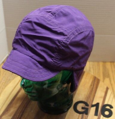 519e8443dd4b0 Vintage Youth Lands End Trapper aviator Style Winter Hat Purple Sz L xl Vgc